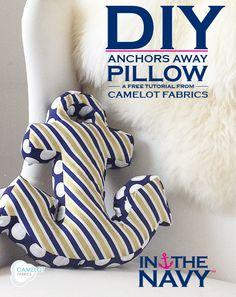 Anchor Shaped Pillow Tutorial