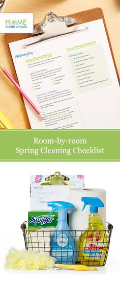 Spruce up your space with our free printable spring cleaning checklist. Get our easy tips for decluttering and organizing bedrooms, closets, kitchens and more.