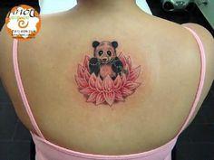 lotus panda tattoo