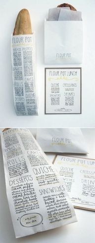 typography + package design