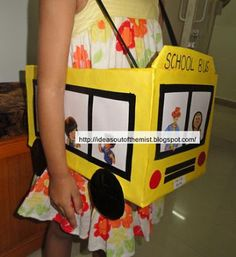 Ideas out of the mist: Wheels on the bus prop / School bus prop