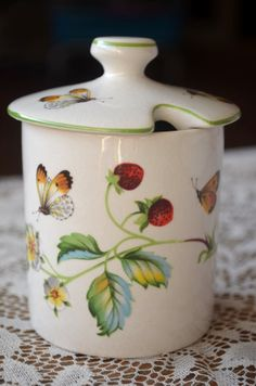 Vintage English Porcelain Strawberries and by EmilysFancies, $10.50