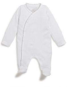 pyjama croisé en coton bio avec manche-mouffles