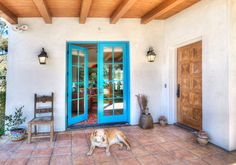 Spanish Hacienda Homestead - southwestern - Entry - Santa Barbara - Kari Architect