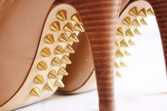 spikes under heels. never thought of this before. so unique