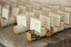 Log place card holders