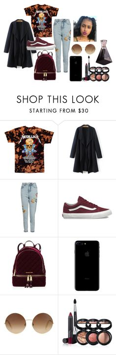 """""""Tommy Rock"""" by trinhunni on Polyvore featuring Topshop, Vans, MICHAEL Michael Kors, Victoria Beckham and Laura Geller"""