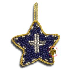 Orthodox Filakto Amulet Pendant Blue Star with Silver Cross Beads Byzantine Art, Traditional Fabric, Religious Icons, Art Store, Incense, Greek, Amulets, Christmas Ornaments, Pendant