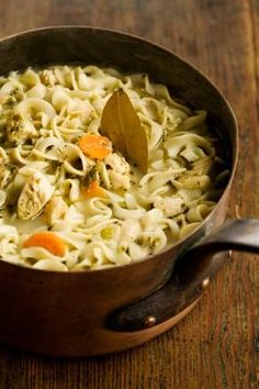 Mmm! Homemade chicken noodle soup is definitely the way to go to beat this cooler fall weather! http://www.pauladeen.com/recipes/recipe_view/the_ladys_chicken_noodle_soup