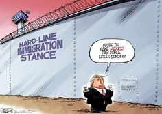 Nate Beeler #cartoon about Trump and his wall. https://www.morecontentnow.com/cartoons/