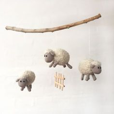 Page not found - Kreamania Crochet Baby Mobiles, Crochet Mobile, Crochet Baby Toys, Crochet For Kids, Crochet Animals, Diy Crochet, Baby Knitting Patterns, Crochet Patterns, Sheep Crafts