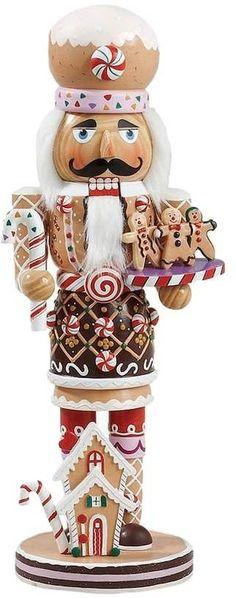EVGENIA GL Kurt Adler Wooden and Polyresin Gingerbread Nutcracker - Christmas - kerstmis - holidays Christmas Traditions, Christmas Themes, All Things Christmas, Vintage Christmas, Christmas Holidays, Christmas Crafts, Merry Christmas, Christmas Decorations, Christmas Ornaments