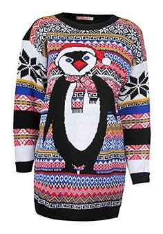 Girls Walk Unisex Novelty Knitted Christmas Jumpers ** Click affiliate link Amazon.com on image for more details.