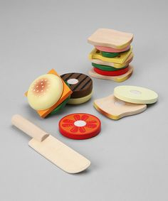 So cute, Sandwich Making kitchen toySet by Melissa & Doug 14.99 sale on #zulily today! at http://www.zulily.com/invite/freepinterest