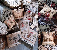 The Twelve Days of Christmas - PART ONE - PDF Digital Cross Stitch patterns - Set of Six