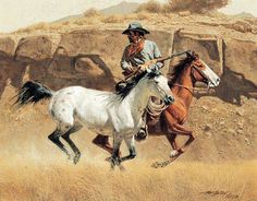 American Indian n Wild West by Frank McCarthy Cowboy Horse, Cowboy Art, Western Cowboy, Indian Pictures, Cowboy Pictures, West Art, Native American Artists, Le Far West, Old West