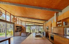 Eco House design - Archterra Architects designed the Bush House, a solarpowered abode that blends environmental sustainability with contemporary luxury Rammed Earth Homes, Steel Frame House, Steel House, Solar House, Shed Homes, Building A House, Green Building, Architecture Design, Pavilion Architecture