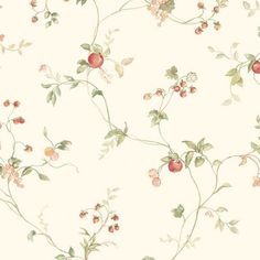 Manhattan Comfort Accentuations Greenacres Floral Wallpaper Beige/Orange/Green - NWKC28535