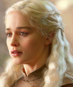 Daenerys study by kir-tat on DeviantArt (detail)
