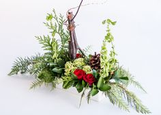 christmas flower designs | Christmas Floral Arrangements