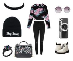 """""""Pastel Grunge pt 2"""" by twenty-one-pilots-at-the-disco ❤ liked on Polyvore featuring Elizabeth and James, River Island, Dr. Martens, Monki and Casetify"""