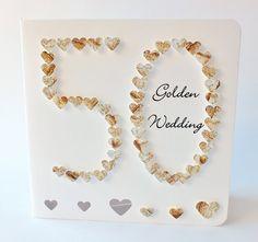 Handmade 3D 50th Golden Wedding Anniversary Card by CardsbyGaynor, £3.95