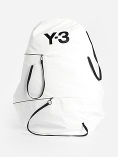 Y 3 White Bungee Backpack White Backpack, Backpack Bags, Sling Backpack, Y3 Bag, Suitcase Packing, Exclusive Collection, Signature Logo, Laptop Bag, Carry On