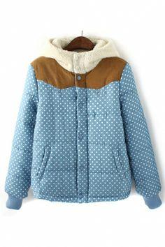 ++ polka dot print outerwear