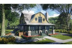 Home Plan HOMEPW75495 - 2685 Square Foot, 4 Bedroom 3 Bathroom + Dutch Colonial Home with 2 Garage Bays | Homeplans.com