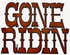 Western Wall Decor Cowgirl Cowboy Art Gone Ridin Horseback Riding