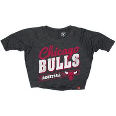 Sportiqe Chicago Bulls Women's Marshall Sanford Cropped Dolman T-Shirt... ($25) ❤ liked on Polyvore featuring tops, t-shirts, black, black crop tee, crop top, black t-shirt, dolman tee and dolman t shirt