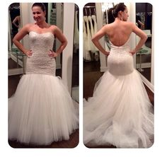 Solutions Bridal Manager looking flawless in this Jim Hjelm fit and flare beaded wedding dress. To learn more about Jim Hjelm and this dress, please visit www.solutionsbridal.com