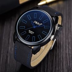 Hot Fashion Mens Watches Brand Luxury Vintage Classic High-Quality Leather Casual Sport Quartz Military Business Wrist Watches