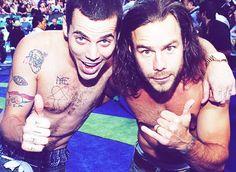 Both of my favorite hotties!! Steve O and Chris Pontius <3