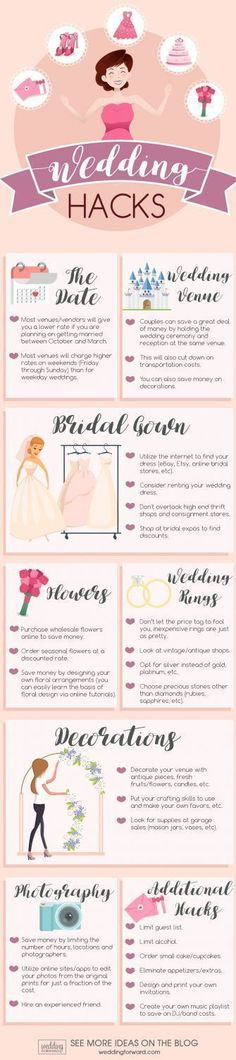 helpful wedding planning infographics wedding hacks #weddinghacks #weddingplanninginfographic #weddinginfographic