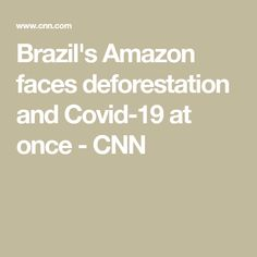 Brazil's Amazon faces deforestation and Covid-19 at once - CNN Brazil Amazon, Health Ministry, Global Economy, Faces, The Face, Face