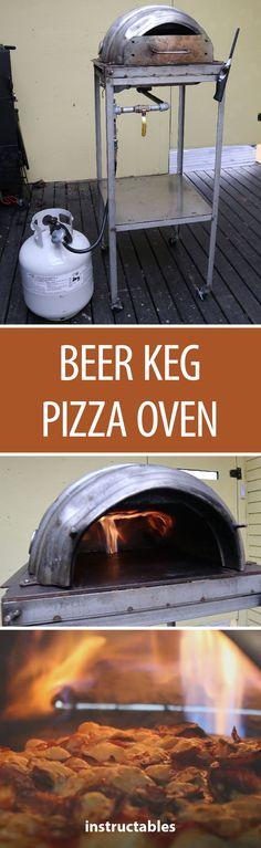 Beer Keg Pizza Oven