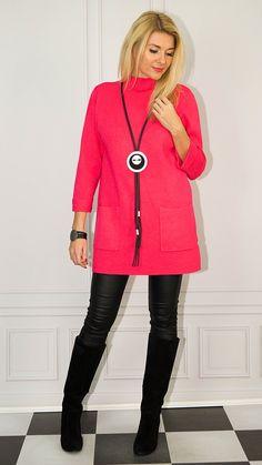 Red Leather, Leather Jacket, Photo Sessions, Jackets, Fashion, Tunic, Studded Leather Jacket, Down Jackets, Moda