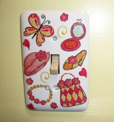 The Dress Up steel single light switch by MoanasUniqueDesigns, $10.00