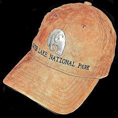 dde2c9f753a Crater Lake National Park Oregon Orange Microsuede Metal Bear Baseball Hat  Cap  TriangleSportHeadwear  BaseballCap