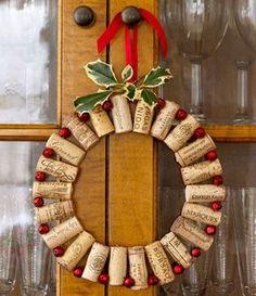 wine cork diy wreath