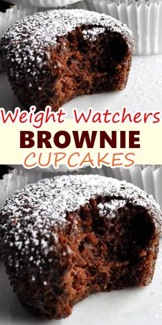 Weight Watchers Brownies, Weight Watcher Desserts, Weight Watchers Snacks, Weight Watcher Muffins, Weight Watchers Smart Points, Brownie Cupcakes, Ww Desserts, Healthy Desserts, Dessert Recipes