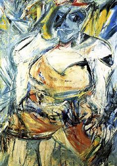 Willem de Kooning: Woman II. (1952).  Oil on canvas. Museum of Modern Art, New York (gift of Blanchette Hooker Rockefeller).