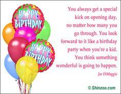 Birthday Quotes & Wishes | Shinzoo Quotes http://www.happybirthdaywishesonline.com/