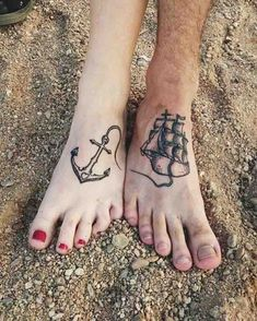 Feet tattoos for couples nautical theme baby tattoos, couple tattoos, small tattoos, time Baby Tattoos, Sister Tattoos, Mini Tattoos, Foot Tattoos, Body Art Tattoos, Small Tattoos, Love Tatuaje, Tattoos For Women, Tattoos For Guys