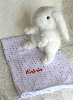 Baptism Gifts, Christening Gifts, Bunny Blanket, Name Embroidery, Embroidered Gifts, Birth Gift, Baby Songs, Unisex Gifts, Cozy Blankets