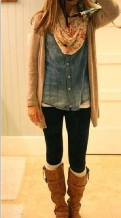 fall outfit - love the layers!