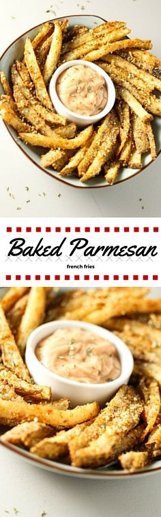 Easy baked parmesan french fries