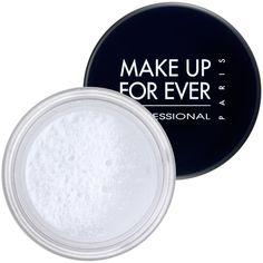 HD Microfinish Powder, da Make Up For Ever: Pó universal translúcido para ser aplicado sobre a base ou usado sozinho. Fixa a base e dá um sutil efeito matte à pele sem alterar seu contorno natural. Este pó composto 100% de sílica disfarça imperfeições, uniformiza completamente a pele resultando em um look radiante, luminoso. Uma cor universal para todos os tons de pele. Quanto: 12 x R$ 11,08 na Sephora. Item indispensável!
