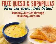 On The Border Coupon for Free Queso AND Free Sopapillas!